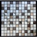 Mixed Aluminum Squares Wall Tile (Pack of 1 or 11)