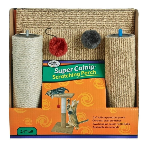 Four Paws 24-inch Super Catnip Cat Scratching Perch