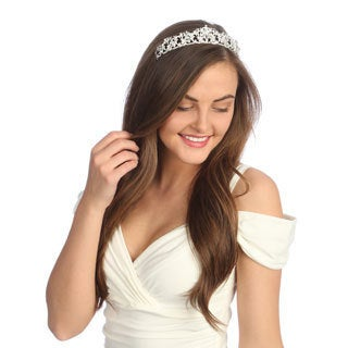 Amour Bridal Rhinestone Tiara Headpiece
