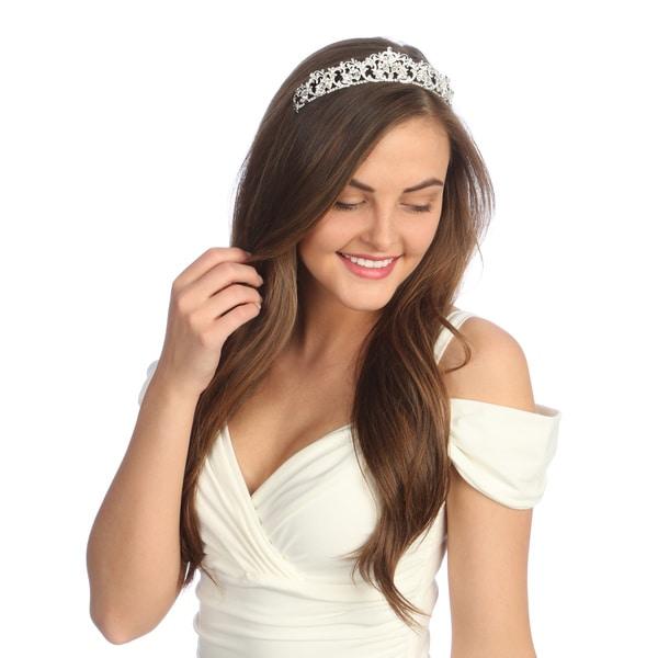 Amour Bridal Rhinestone Tiara Headpiece
