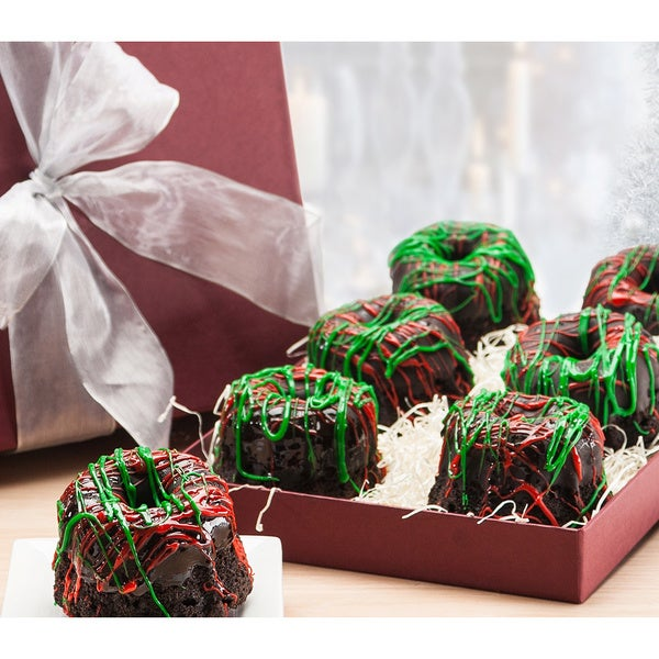 Christmas Triple Chocolate Mini Bundts