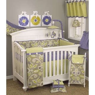 Cotton Tale Periwinkle 8-piece Crib Bedding Set