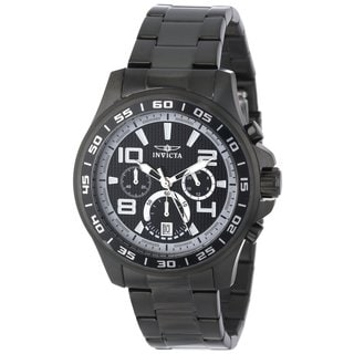 Invicta Men's Specialty Quartz Black Chronograph Watch