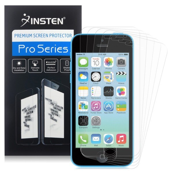 INSTEN Anti-glare Screen Protector for Apple iPhone 5/ 5S/ 5C (Pack of 5)