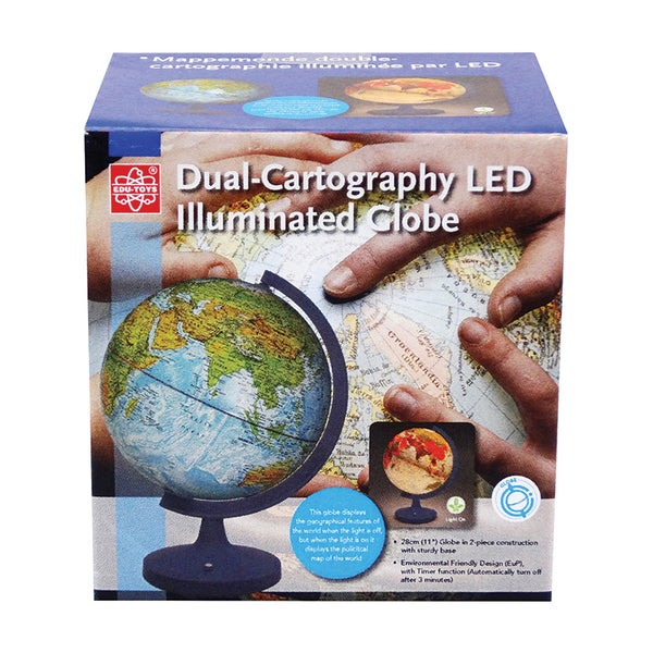Dual 11-inch Cartography LED Illuminated Globe