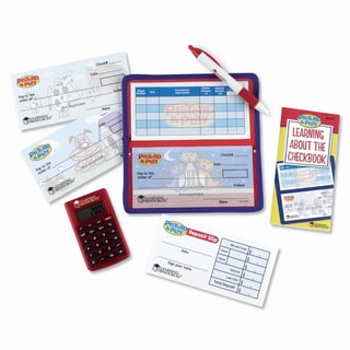 Checkbook with Calculator Pretend Play Set