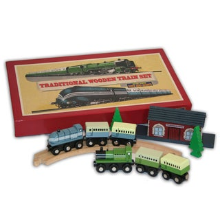 Traditional Wooden Train Set