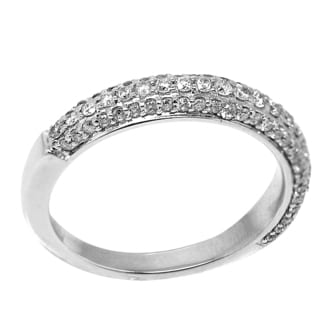 De Buman 14K White Gold 7/8ct TDW Diamond Ring (H-I, I1-I2)