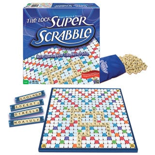 Super Scrabble Deluxe Edition Board Game