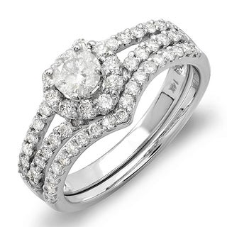 14k White Gold 1ct TDW Diamond Bridal Ring Set (H-I, I1-I2)