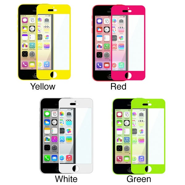 INSTEN Colorful Frame Screen Protector for Apple iPhone 5/ 5S/ 5C