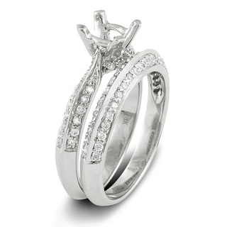 14k White Gold 1/2ct TDW Round Diamond Ring (H-I, I1-I2)