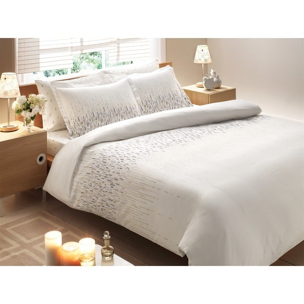 Brielle Bamboo Twill Cascade 3-piece Duvet Cover Set with Giftable Box