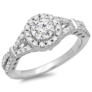 14k White Gold 1ct TDW Engagement Ring (H-I, I1-I2)