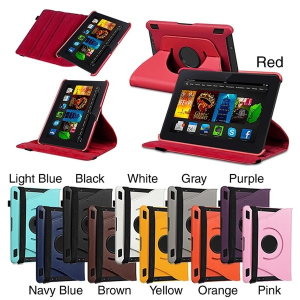 INSTEN Swivel Stand Leather Phone Case Cover for Amazon Kindle Fire HDX 7-inch
