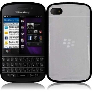 BasAcc Clear/ Black TPU Case for Blackberry Q10