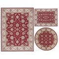Versatile Persian Floral Collection Rust Rugs (Set of 3)