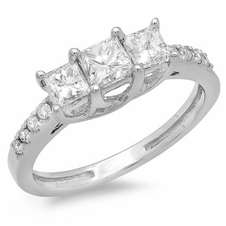 14k White Gold 1ct TDW Diamond Ring (H-I, I1-I2)
