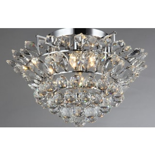 Queen 4-light Chrome Crystal Pendant