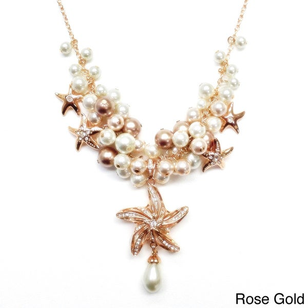 Concert By The Sea Faux Pearl and Starfish Necklace