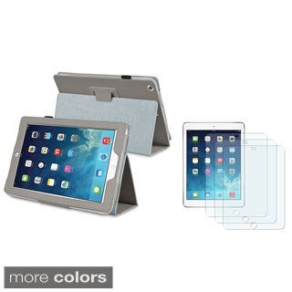 BasAcc Stand Case/ Anti-glare Screen Protector for Apple iPad Air
