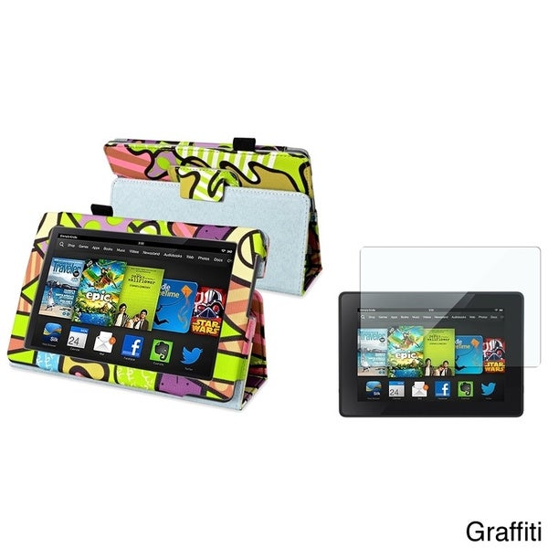 BasAcc Stand Case/ Screen Protector for Amazon Kindle Fire HD 7-inch