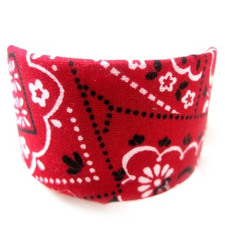 Crawford Corner Shop Red Bandana Ponytail Hair Clip