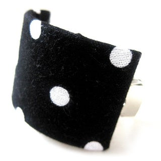 Crawford Corner Shop Black and White Polka Dot Ponytail Hair Clip