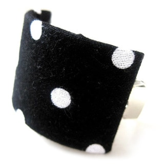 Black and White Polka Dot Ponytail Hair Clip