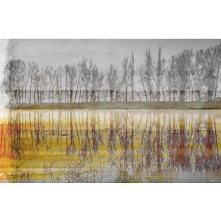 Parvez Taj 'Sunset Lake' Canvas Art Print