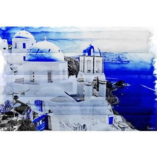 Parvez Taj 'Santorini' Canvas Art Print