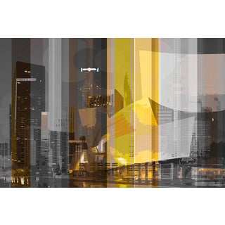 Parvez Taj 'Down Town' Canvas Art Print
