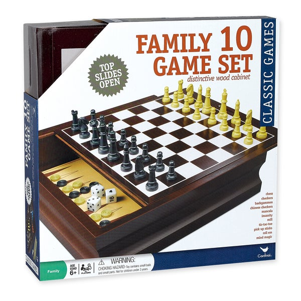 Cardinal Family 10-in-1 Game Set