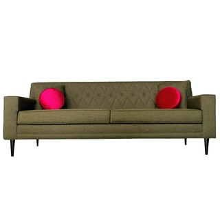 Green Nicolette Quilted Sofa