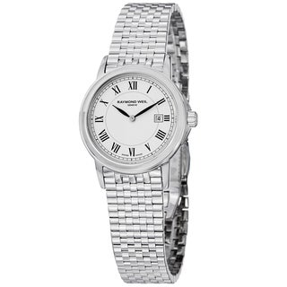 Raymond Weil Women's 'Traditional' White Dial Stainless Steel Watch