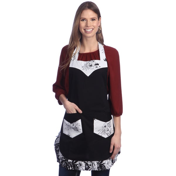 Angel Black Flower Apron