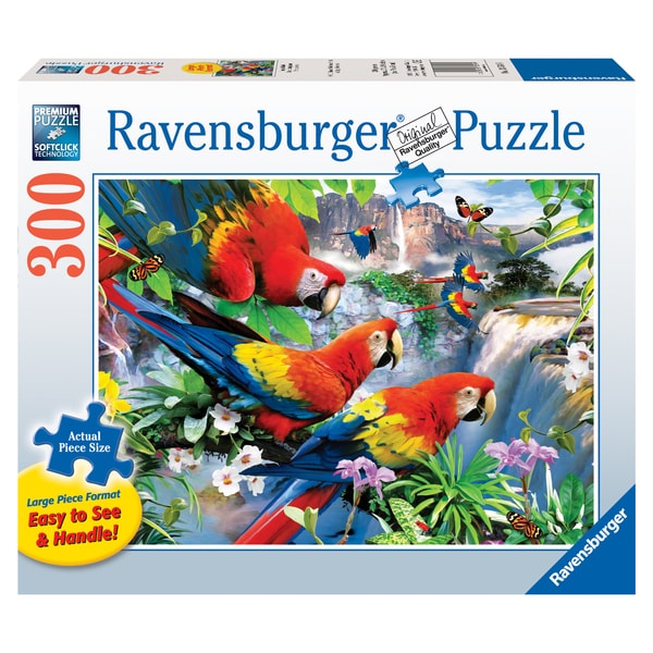 Large 300-piece Tropical Birds Jigsaw Puzzle