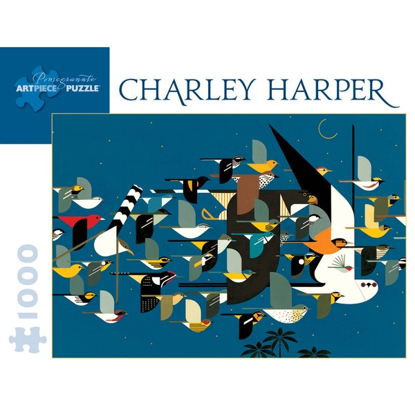 Charley Harper Mystery of the Missing Migrants Puzzle: 1000 Pcs