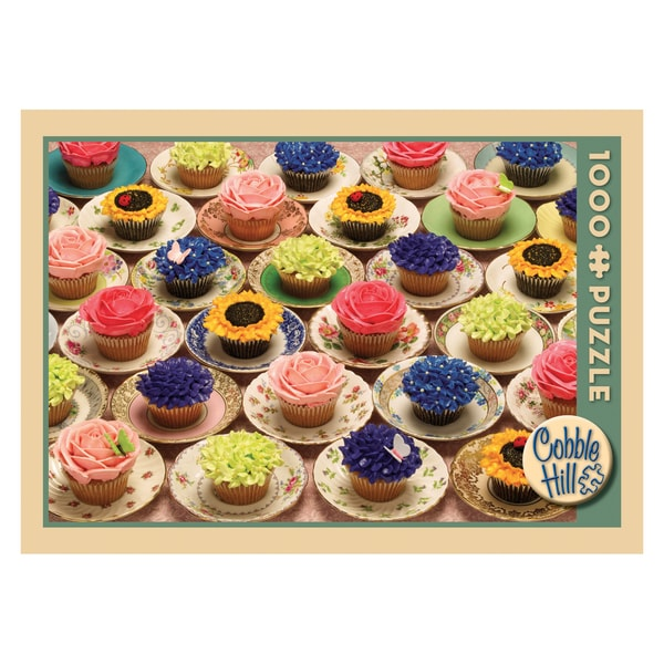 Cupcakes and Saucers Jigsaw Puzzle: 1000 Pcs