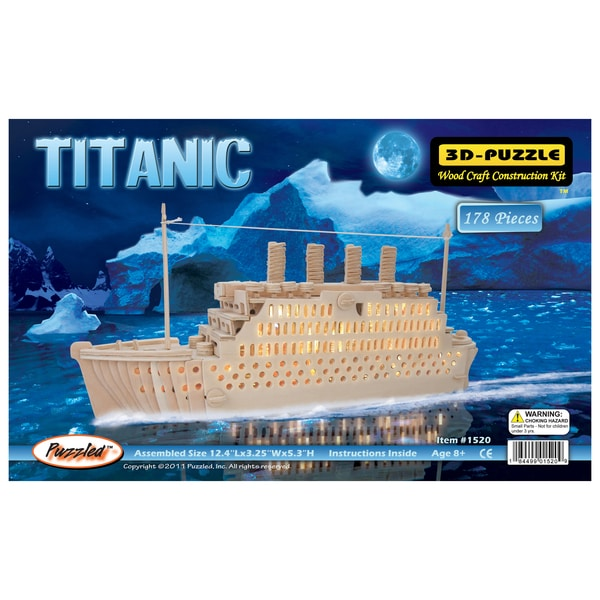 Titanic Natural Wood 3D Puzzle