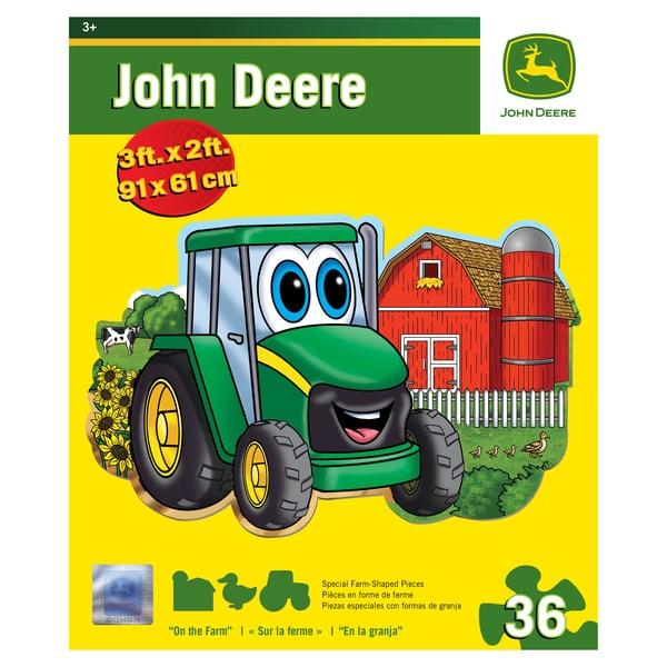 John Deere Johnny Tractor On the Farm 36-piece Floor Puzzle