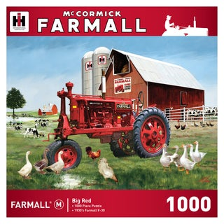 McCormick Farmall Big Red Tractor 1000-piece Jigsaw Puzzle