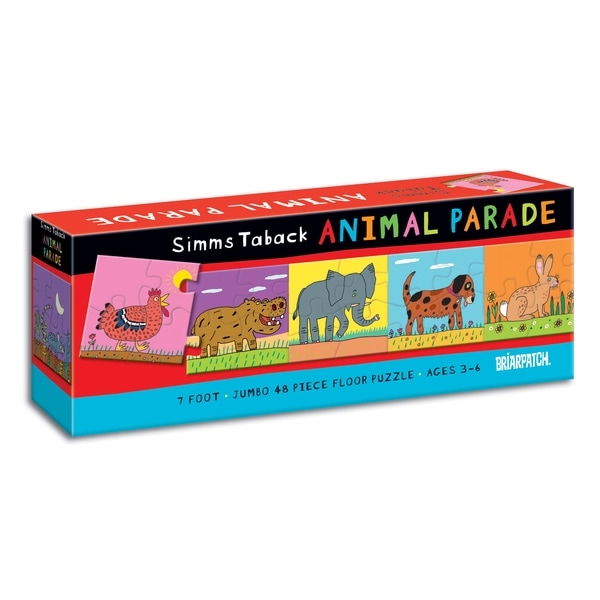 Simms Taback Animal Parade 7-foot 48-piece Floor Puzzle