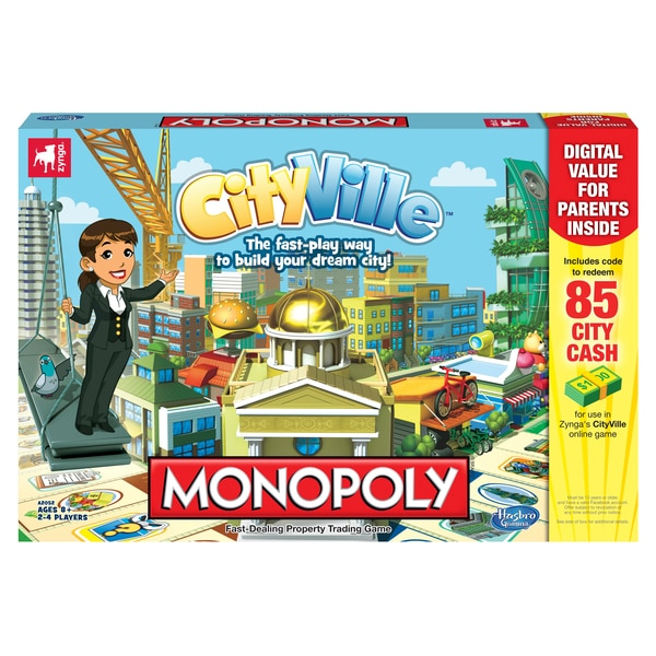 CityVille Monopoly Board Game