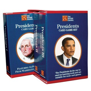 Presidents 3-deck Card Game Bookcase Set