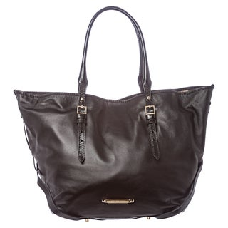 Burberry 'Salisbury' Medium Black Bridled Soft Leather Tote