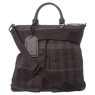 Burberry Black Beat Check Tote