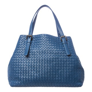 Bottega Veneta 'Intrecciato' Cornflower Blue Nappa Leather Tote