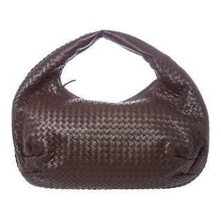 Bottega Veneta 'Intrecciato' Brown Nappa Belly Veneta Hobo Bag