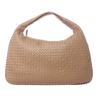 Bottega Veneta Large Beige Junior Intrecciato Nappa Veneta Hobo Bag